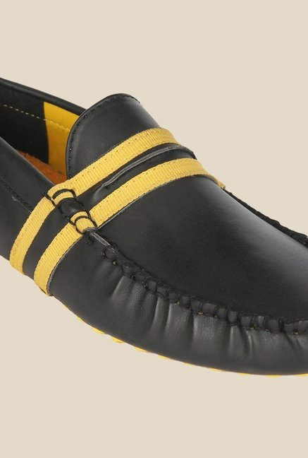 Wega Life Fusion Black & Yellow Loafers