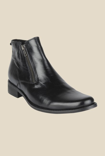 Salt 'n' Pepper Zindabad Black Formal Boots