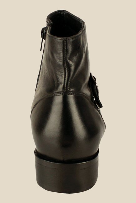 Salt 'n' Pepper Senator Black Monk Boots