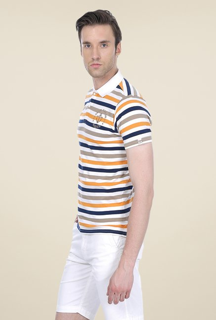 Basics Multicolor Striped Short Sleeve Polo T-shirt