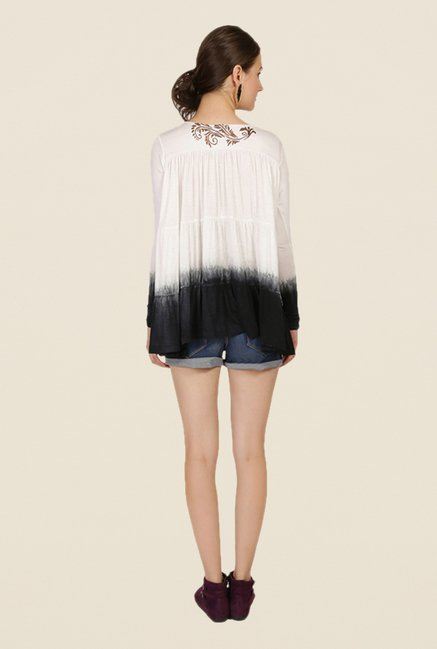 Ira Soleil Off White Ombre Top