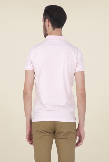 Basics Muscle Fit Light Pink Polo T-shirt