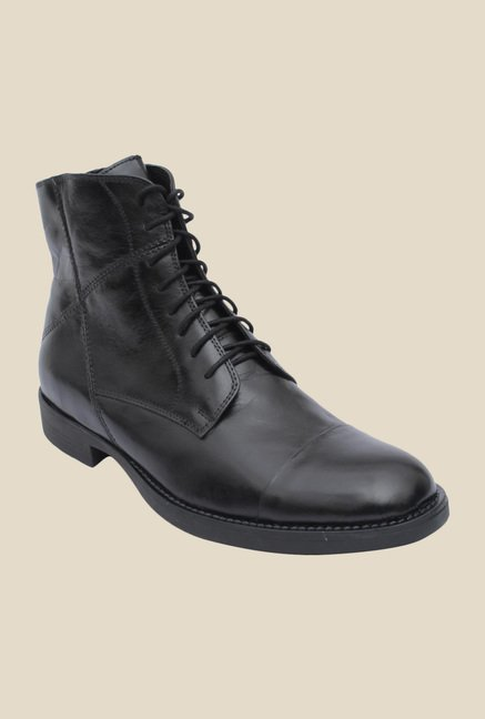 Salt 'n' Pepper Ray Black Derby Boots