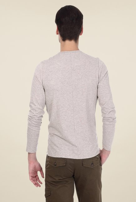 Basics Brown Solid T-shirt