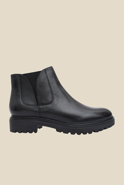 Salt 'n' Pepper Box Black Formal Boots
