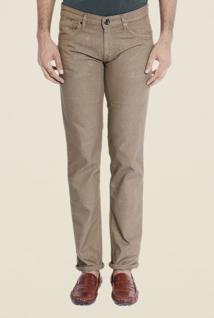 Park Avenue Brown Rinse Washed Jeans