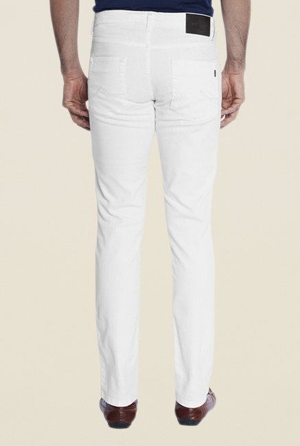 Park Avenue White Raw Denim Jeans