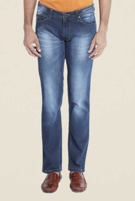 Park Avenue Blue Heavily Washed Jeans