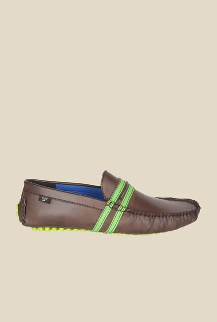 Wega Life Fusion Brown & Green Loafers