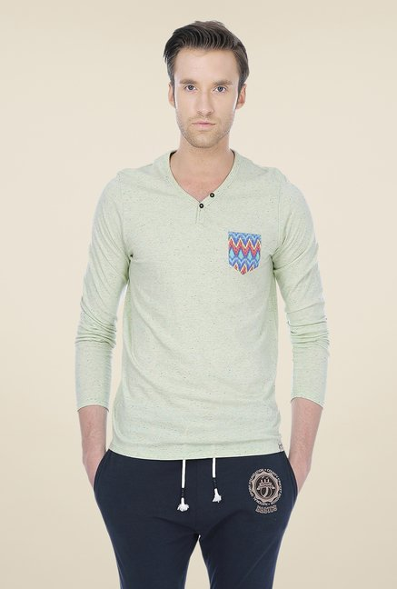 Basics Green Solid T-shirt