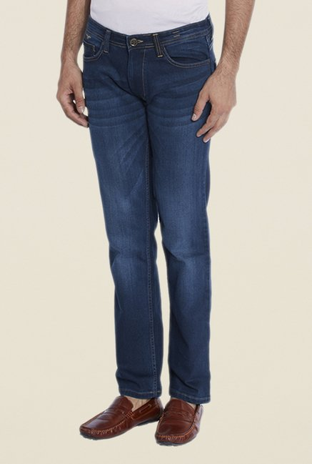 Park Avenue Dark Blue Lightly Washed Jeans