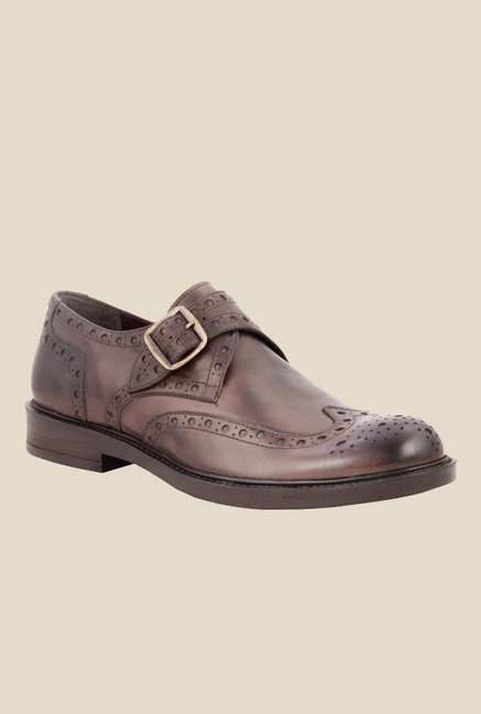 Salt 'n' Pepper Antartic Brown Brogue Shoes