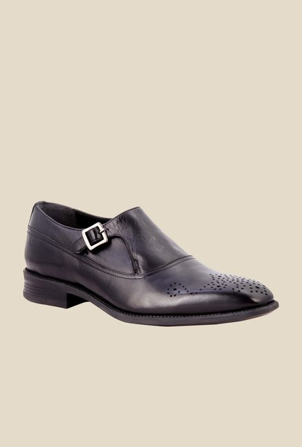 Salt 'n' Pepper Figo Black Monk Shoes