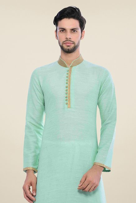 Manyavar Trendy Light Green Kurta & Churidar