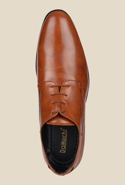 DaMochi Quebec Tan Derby Shoes