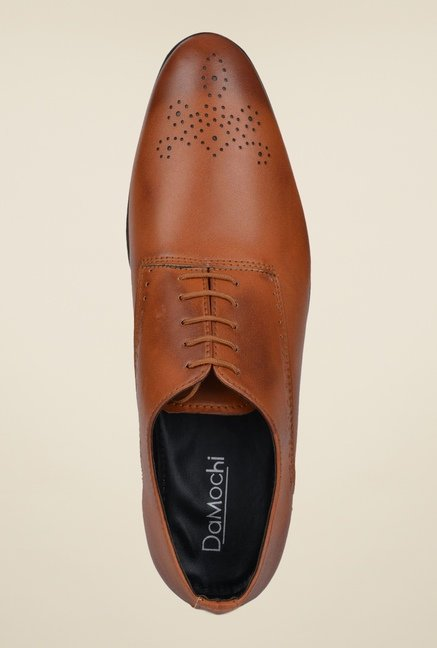 DaMochi Warsaw Tan Oxford Shoes