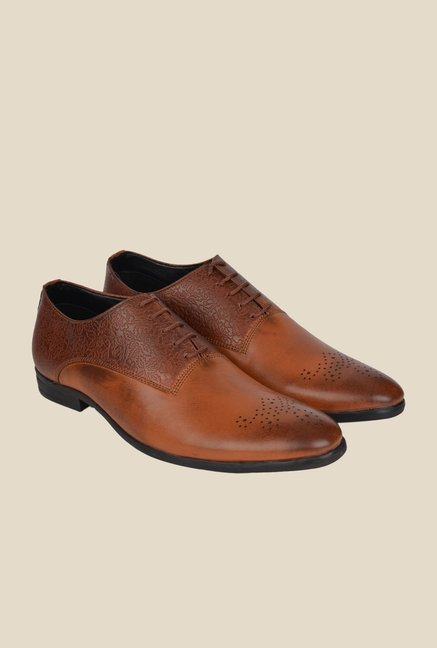 DaMochi Oslo Tan Oxford Shoes