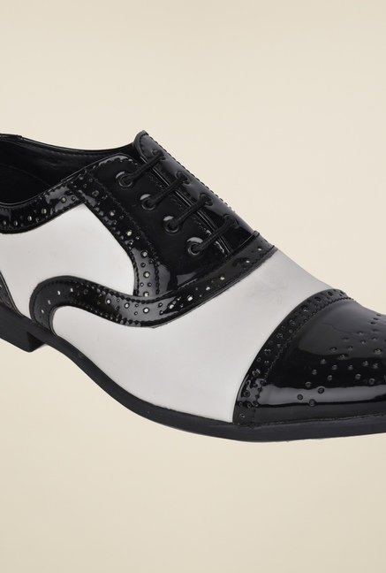 DaMochi Chivas Black & White Brogue Shoes
