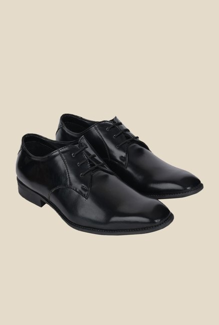 DaMochi Bogota Black Derby Shoes