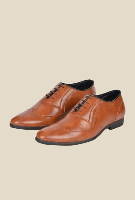 DaMochi Gusto Tan Oxford Shoes