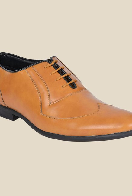 DaMochi Gusto Camel Oxford Shoes