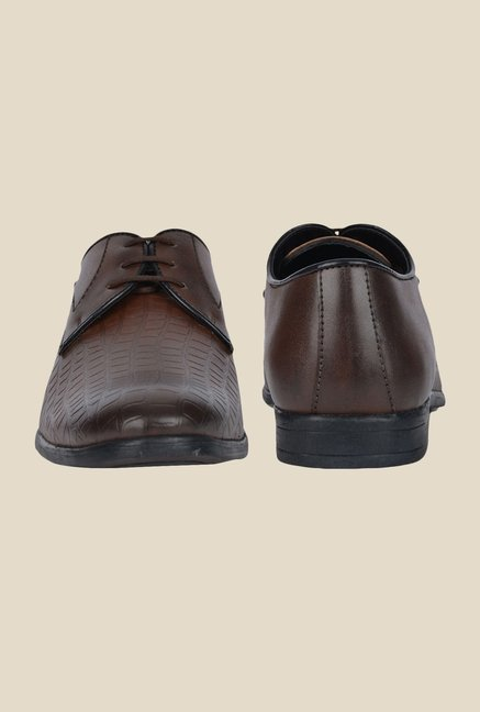 DaMochi Dublin Brown Derby Shoes