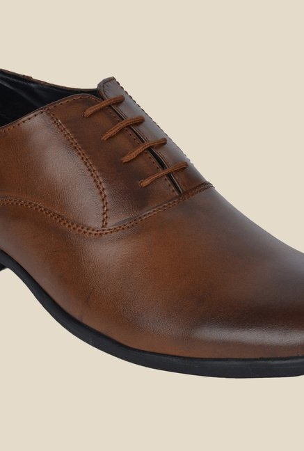 DaMochi Caracas Tan Oxford Shoes