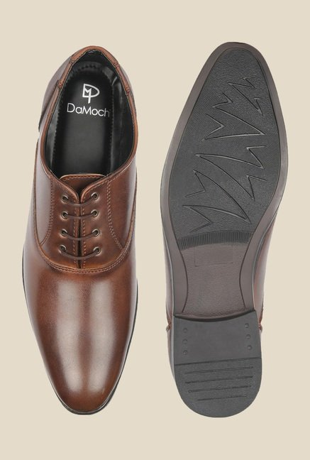 DaMochi Caracas Brown Oxford Shoes