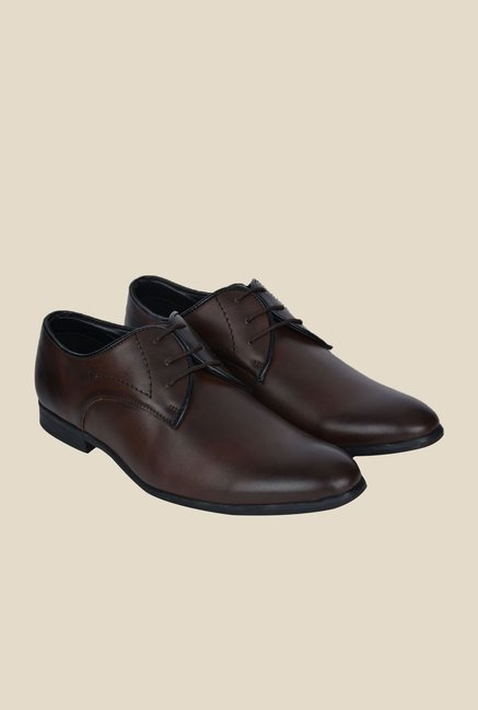 DaMochi Nata Brown Derby Shoes