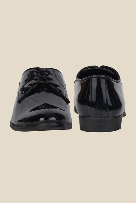 DaMochi Elixir Patent Black Derby Shoes