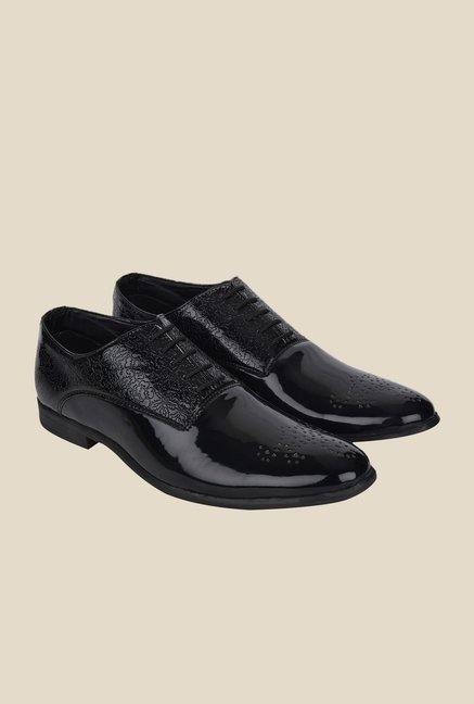 DaMochi Oslo Patent Black Oxford Shoes