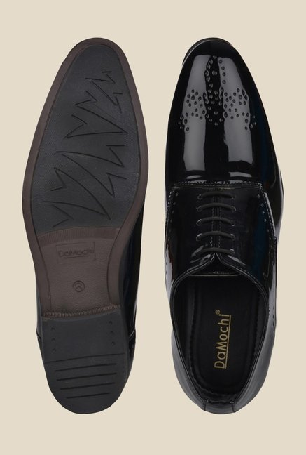 DaMochi Seoul Patent Black Oxford Shoes