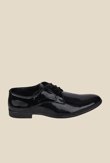 DaMochi Dublin Patent Black Derby Shoes
