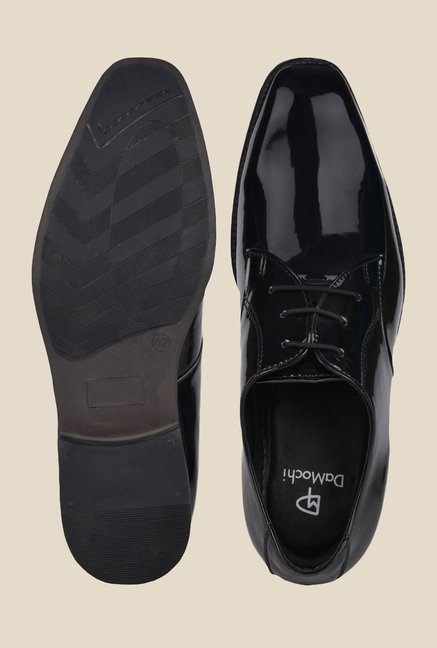 DaMochi Bogota Patent Black Derby Shoes