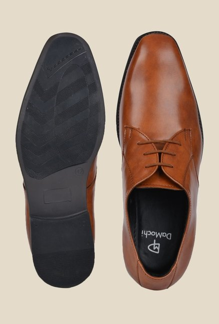 DaMochi Bogota Tan Derby Shoes
