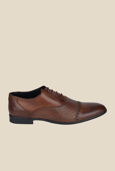 DaMochi Diest Tan Oxford Shoes