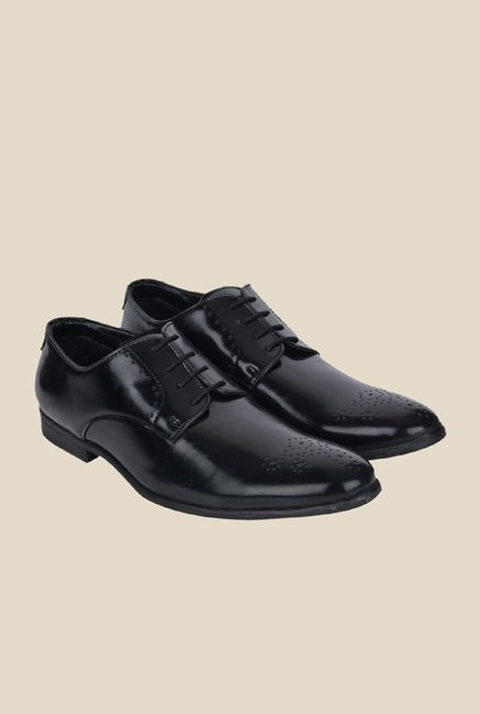 DaMochi Hobart Black Derby Shoes