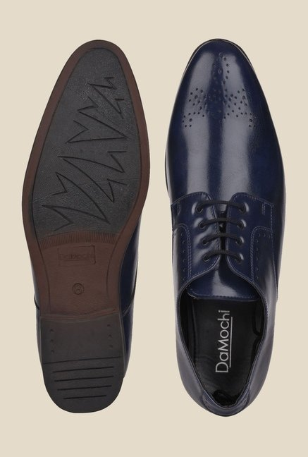 DaMochi Hobart Navy Derby Shoes