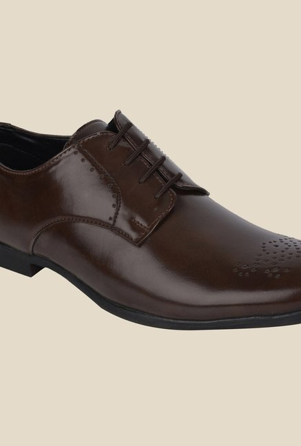 DaMochi Hobart Brown Derby Shoes