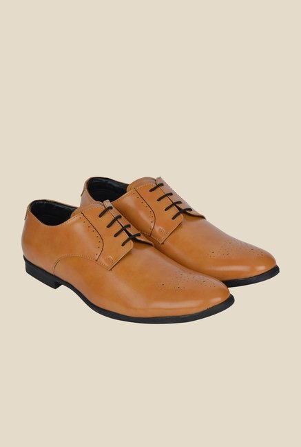 DaMochi Hobart Camel Derby Shoes