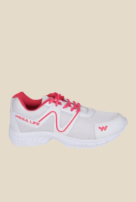Wega Life Air White & Pink Running Shoes
