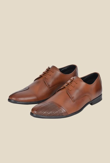 DaMochi Wurth Brown Derby Shoes
