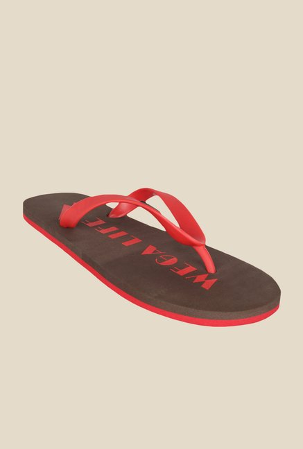 Wega Life Joy Red & Brown Flip Flops