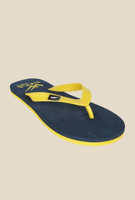 Wega Life Delight Yellow & Navy Flip Flops