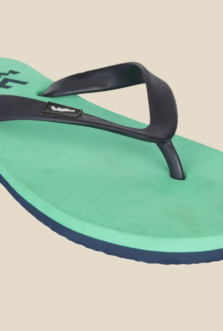 Wega Life Delight Black & Green Flip Flops