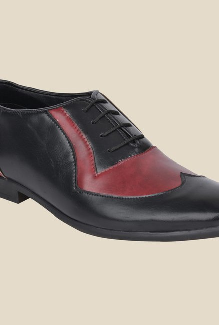 DaMochi Ascent Black & Red Oxford Shoes