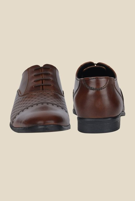 DaMochi Diest Brown Oxford Shoes