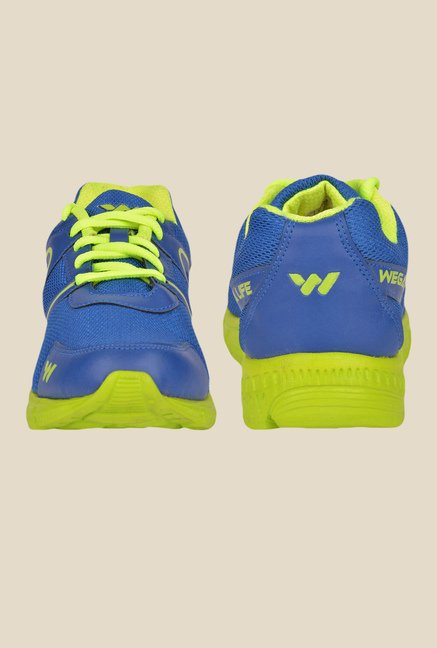 Wega Life Air Blue & Green Running Shoes