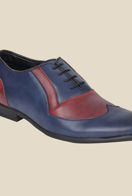 DaMochi Ascent Blue & Red Oxford Shoes