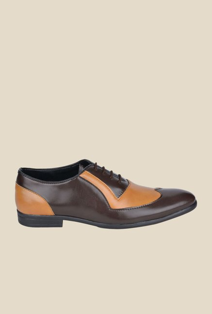 DaMochi Ascent Brown & Camel Oxford Shoes